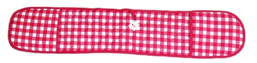 PINK COLOUR CHECK DOUBLE OVEN GLOVE QUILTED 100% COTTON
